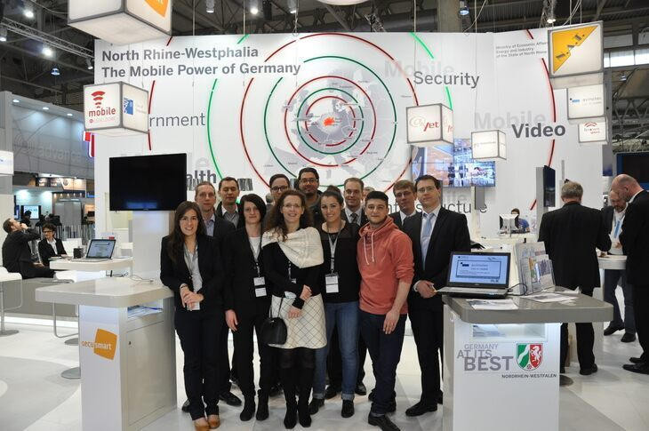 The participants of the Mobile World Congress 2014