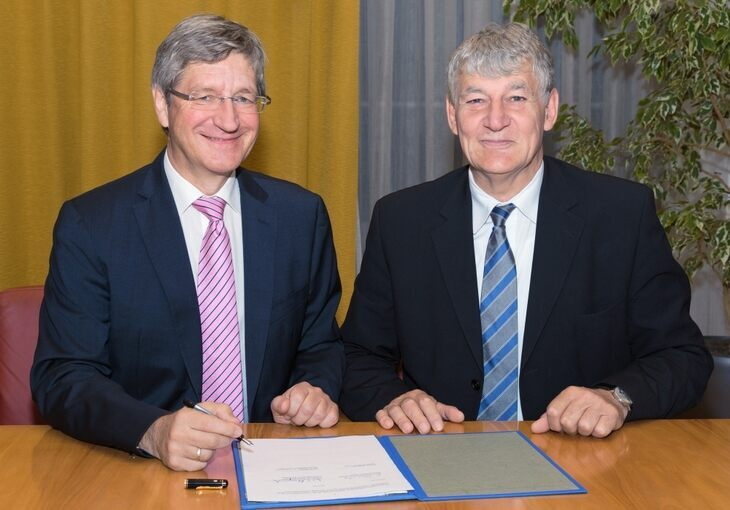 Professor Wolfgang Marquardt, Chairman of the Board of Forschungszentrums Jülich, and RWTH Rector Professor Ernst Schmachtenberg