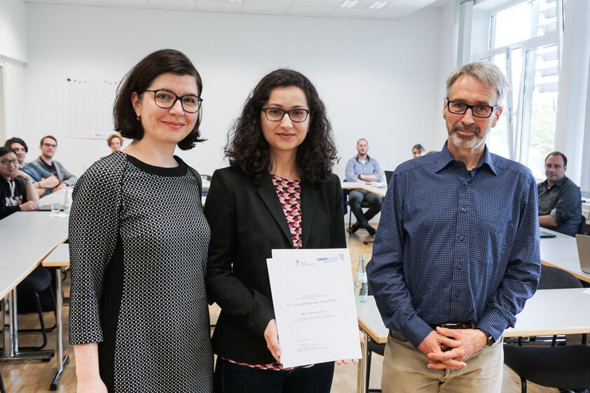 "Andra V. received the ""ICT Young Researcher Award 2019"""